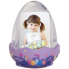 Easter Egg Photo Snow Globe with Resin Base