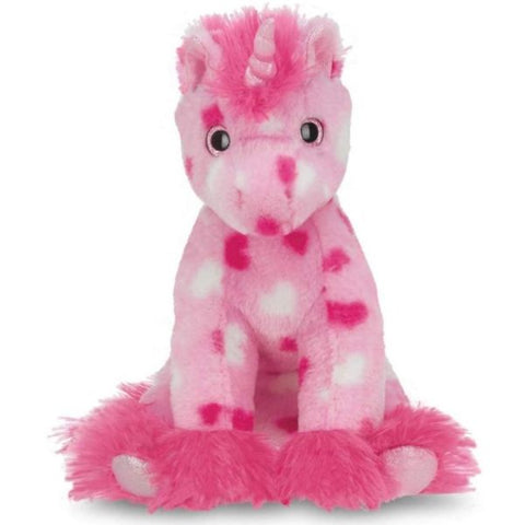 Picture of Enchanted Hearts Plush Stuffed Animal Pink Unicorn with Hearts