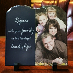 Stone Photo Slate Plaque Tablet