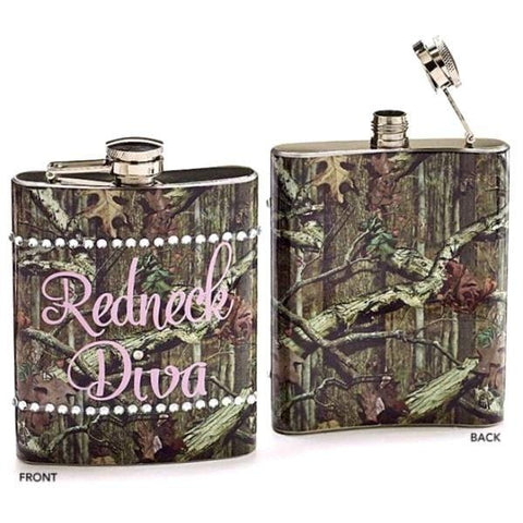 Picture of Mossy Oak Camouflage Flask Redneck Diva - Pack of 4