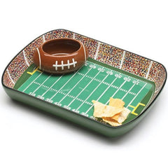 Football Stadium Chip and Dip Sports Serving Sets - Pack of 2 Sets