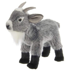 Garret Plush Stuffed Gray Goat