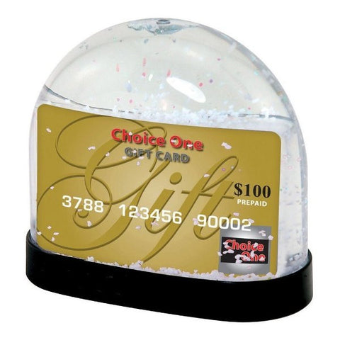 Picture of Gift Card Snow Globe
