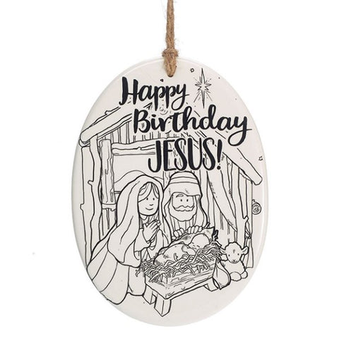 Picture of HBJ Color Your Own Holy Family Ornament