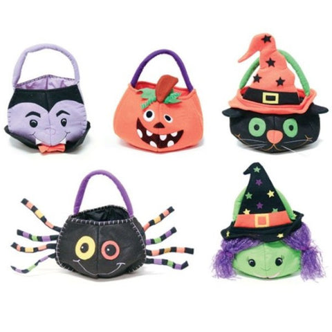 Picture of Halloween Character Basket Felt Bags - 5 Characters Set