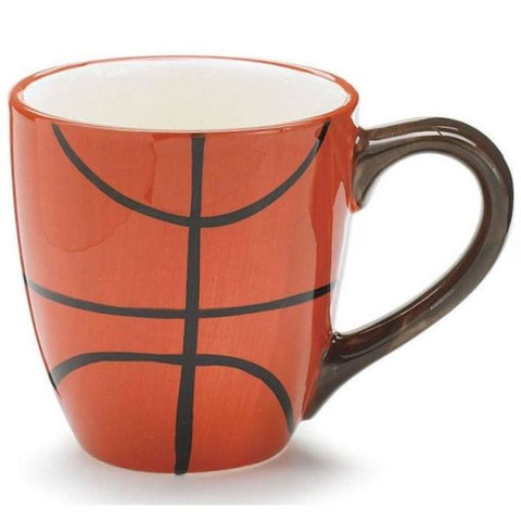 Picture of Hand-Painted Basketball Ceramic Mugs - 6 Pack