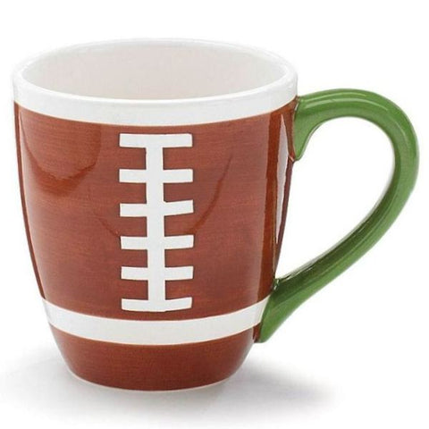 Picture of Hand-Painted Football Ceramic Mugs - 6 Pack