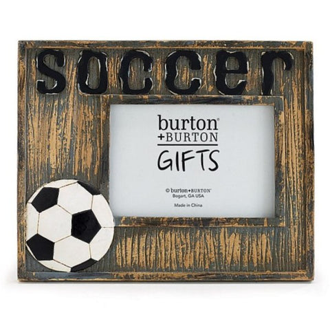 Picture of Hand-Painted Rustic Distressed Soccer Resin Picture Frame