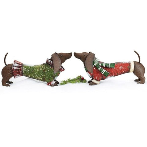 Picture of Hand-Painted Tin Dachshund Dog Pair