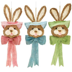 Hanging Easter Bunny Heads - 3 Pack