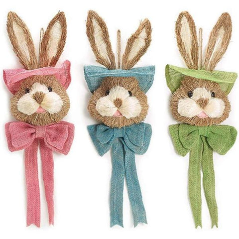 Picture of Hanging Easter Sisal Bunny Head Set