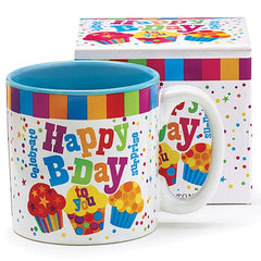 Happy Birthday To You Ceramic Mugs - 6 Pack