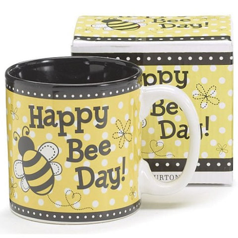 Picture of Happy Bee Day 13 oz. Coffee Mugs - 6  Pack