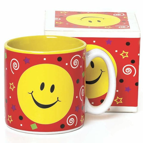 Picture of Happy Smiley Face Party 13 oz. Ceramic Mugs - 6 Pack