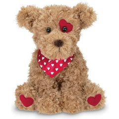 Harry Hugglesmore Plush Stuffed Animal Puppy Dog with Hearts
