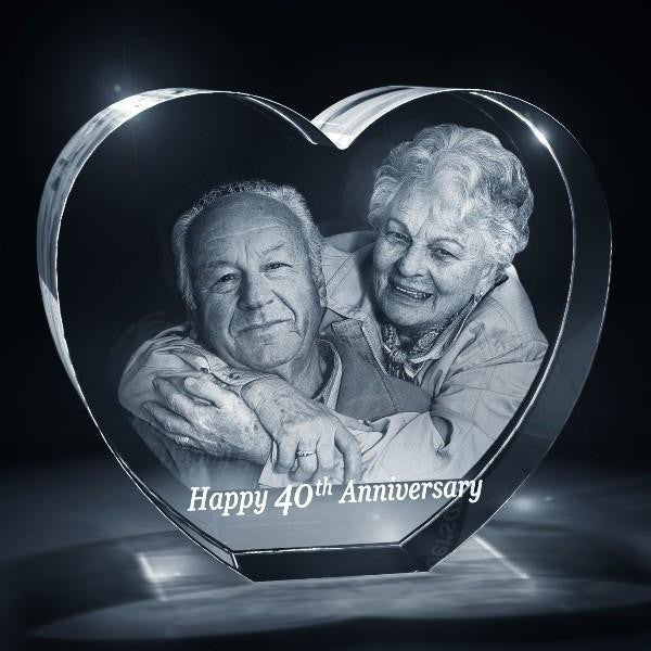 Heart Shaped 3D Photo Crystal · Ellisi Gifts