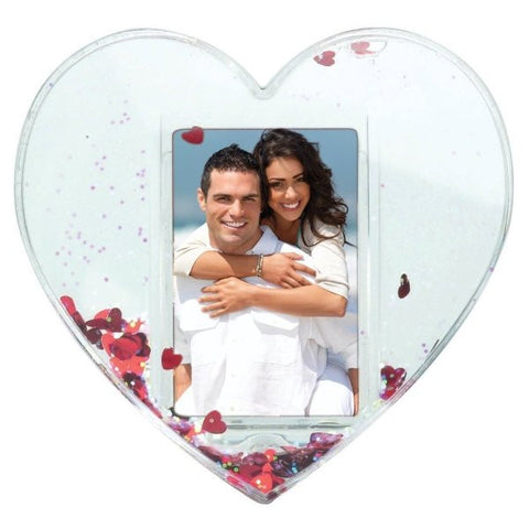 Picture of Heart Shaped Photo Snow Globes - 12 Pack