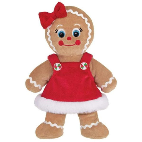 Picture of Holiday Plush Stuffed Gingerbread Girl Holly Ginger