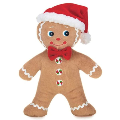 Picture of Holiday Plush Stuffed Gingerbread Man Jolly Ginger