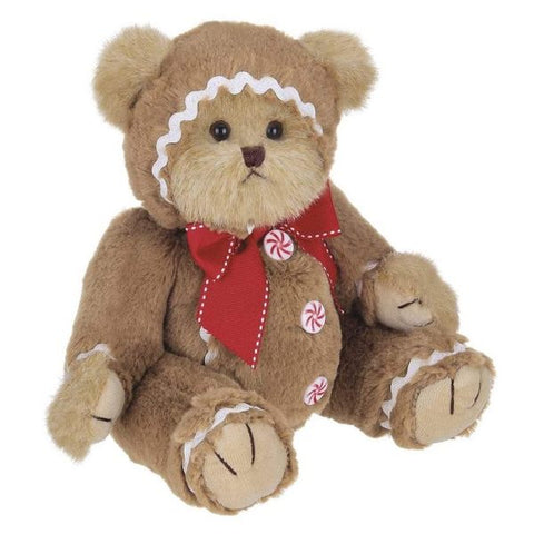 Picture of Holiday Plush Stuffed Gingerbread Teddy Bear Gingerbeary