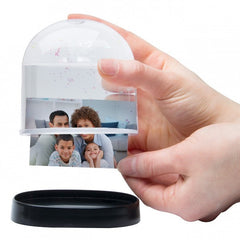 Horizontal Photo Snow Globe with Clear Back - 6 Pack
