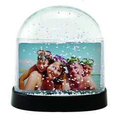 Horizontal Photo Snow Globe with Clear Back