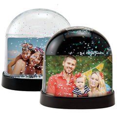 Horizontal Photo Snow Globes - 2 Pack
