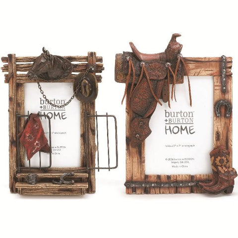 Picture of Horse and Saddle Photo Picture Frame Set