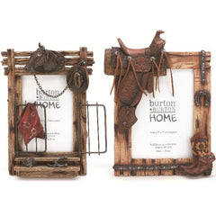 Horse and Saddle Photo Picture Frame Set