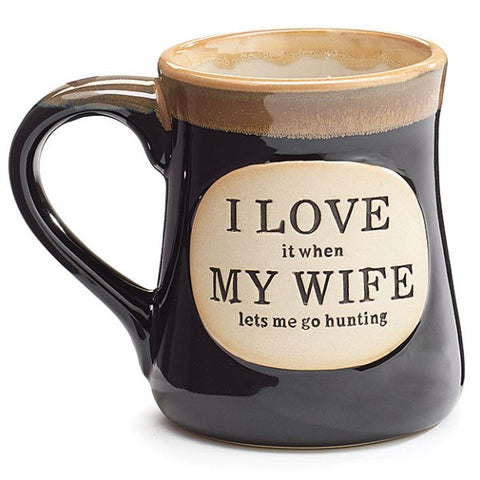 "Picture of ""I Love My Wife"" Dark Blue 18 oz. Hunting Coffee Mug"