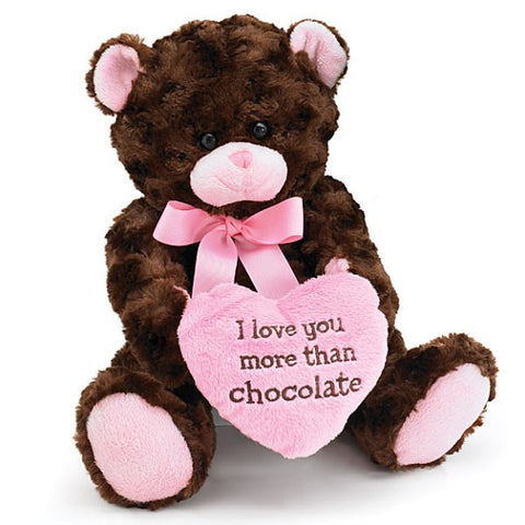 Picture of I Love You More Than Chocolate Valentine's Teddy Bear