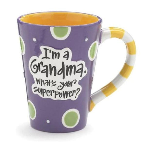 "Picture of ""I'm a Grandma, What's Your SuperPower?"" 12 oz. Coffee Mugs - 4 Pack"