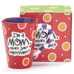 """I'm a Mom, What's Your SuperPower?"" 12 oz. Coffee Mug"