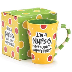 """I'm a Nurse, What's Your SuperPower?"" 12 oz. Coffee Mug"
