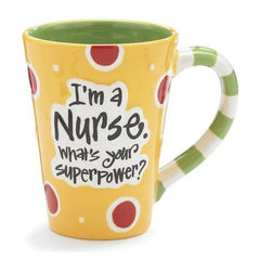 """I'm a Nurse, What's Your SuperPower?"" 12 oz. Coffee Mugs - 4 Pack"