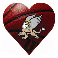 Basketball Hardboard Heart Puzzle with 23 Pieces