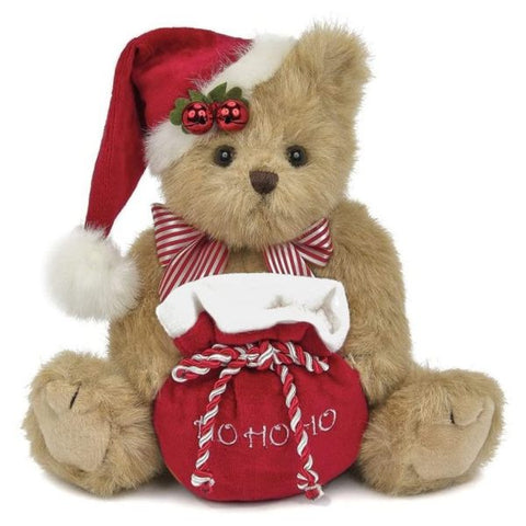 Picture of Jolly Jingles the Christmas Plush Stuffed Teddy Bear with Santa Hat