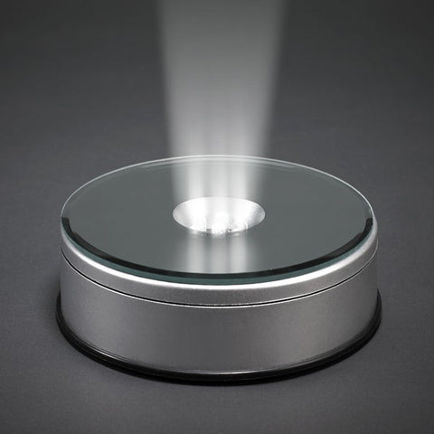 Led Light Round Base With Mirror Glass Top 183 Ellisi Gifts