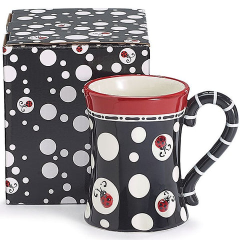 Picture of Ladybug Dots 13 oz. Ceramic Coffee Mug/Tea Cup - 4 Pack