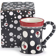 Ladybug Dots 13 oz. Ceramic Coffee Mug/Tea Cup - 4 Pack