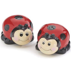 Ladybug Face Salt and Pepper Shaker Set