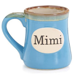 Light Blue Mimi/Message 18 oz. Porcelain Mugs - 4 Pack