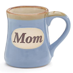 Light Blue Mom/Message 18 oz. Porcelain Mug