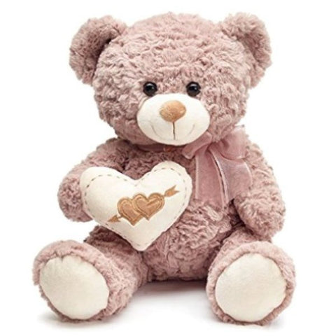 Picture of Light Brown Plush Valentine Bears - 4 Pack