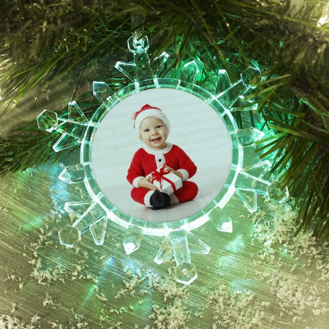 Picture of Light Up Snowflake Photo Ornament