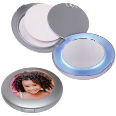 Lighted Photo Compact Mirror