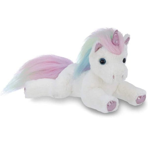 Picture of White Plush Stuffed Animal Unicorn Lil' Rainbow Shimmers