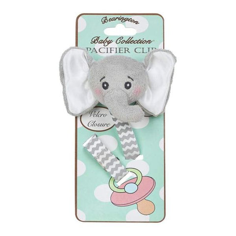 Picture of Lil' Spout Gray Elephant Pacifier Clips - 4 Pack