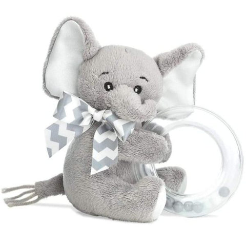 Picture of Lil' Spout Gray Elephant Shaker Toy Ring Rattle
