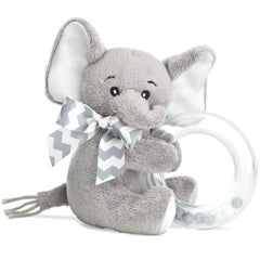 Lil' Spout Gray Elephant Shaker Toy Ring Rattle